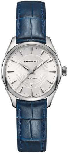 Hamilton Watch American Classic Jazzmaster Lady Auto #basel-15 #bezel-fixed #bracelet-strap-leather #brand-hamilton #case-material-steel #case-width-30mm #date-yes #delivery-timescale-call-us #dial-colour-silver #gender-ladies #luxury #movement-automatic #new-product-yes #official-stockist-for-hamilton-watches #packaging-hamilton-watch-packaging #style-dress #subcat-american-classic-jazzmaster #supplier-model-no-h42215651 #warranty-hamilton-official-2-year-guarantee #water-resistant-50m