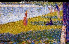 Women By The Water - Georges Seurat - www.georgesseurat.org