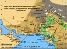 Major Sites and Interaction Networks of the Indus Tradition, Harappan Phase, 2600-1900 BCE. Six large Indus cities have been discovered. In Pakistan, Harappa was excavated extensively in the 1920-30s, 1960s, and from 1986-2010. Mohenjo Daro was excavated extensively in the 1920-30s, with smaller projects in the 1940s and 1960s. Lakhanjo Daro was discovered in 1986 but only recent excavations in 2009-2014 have shown that it is probably as big as Mohenjo Daro. (Image Credit Harappa.com)