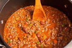 Receta chili con carne Et Yemekleri Authentic Mexican Recipes, Mexican Food Recipes, Ethnic Recipes, Chilli Recipes, Pork Recipes, Wine Recipes, Healthy Recipes, Salsa Nachos, Tacos And Burritos