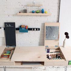 #DIY Flip Desk by Ben Uyeda / Homemade Modern. Click thru for complete instructions at RYOBI Nation!
