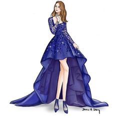 Woman in fancy blue dress drawing Dress Design Drawing, Dress Design Sketches, Fashion Design Sketchbook, Fashion Design Drawings, Dress Drawing, Fashion Sketches, Fashion Drawing Dresses, Fashion Illustration Dresses, Fashion Dresses