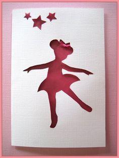 Angelina Ballerina Birthday Card, Party Invitation,