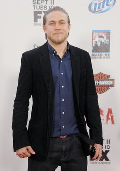 Pin for Later: Charlie Hunnam's Superhot Hollywood Evolution in 35 Photos  He posed for pictures at the Sons of Anarchy season five premiere screening in LA in September 2012.