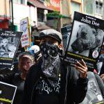 Demonstration gegen Hundefleisch