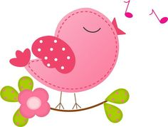 Cute pink little bird