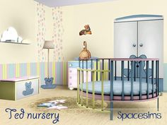 A sweet nursery with a round crib coloured in soft, lovely colours. Toddlers and babies will love spending their time in this nursery accompanied with a cute giraffe toy and other sweet goodies!...