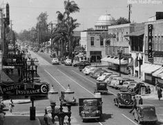 South Main (c) California History, California Art, California Dreamin', Orange County California, San Luis Obispo County, San Clemente, Historical Pictures, City Streets, Old Pictures