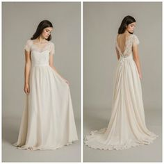 VIOLET lace top with PEONY wedding dress by Sally Eagle Bridal
