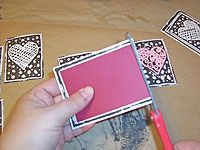 the frugal woman's way to create block prints without investing in a lot of expensive materials.