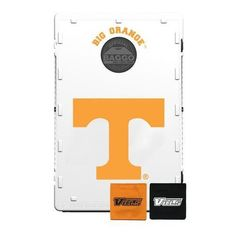 Tennessee Vols cornhole game. This Tennessee Vols corn hole game is the highest quality game we offer. This official version is made of sturdy plastic not wood. It latches together, can hang on a wall