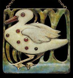 scottish enamel arts crafts box pewter - Google Search