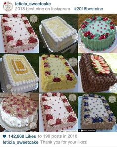 Cake Decorating Frosting, Cake Decorating Videos, Basket Weave Cake, Brazilian Dishes, Best Nine, Cake Shop, No Bake Cake, Vanilla Cake, Food And Drink