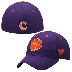 Clemson Tigers Top of the World Dynasty Memory Fit Fitted Hat – Purple