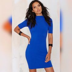 Royal Blue Bodycon Dress