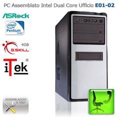 """Assembled PC Intel Dual Core Ufficio """"E01-O2""""  CASE: iTek IZOO Midi Tower+PSU 500W; HDD:Western Digital Caviar Blu 1TB; CPU: Intel Pentium Dual-Core G860 3.0GHz; RAM:G.Skill NS  1333MHz 4GB; MB:AsRock B75 PRO3-M Socket 1155 Intel B75; VGA: integrated; http://www.e-key.it/prod-pc-assemblato-intel-dual-core-ufficio-e01-o2-36625.htm"""