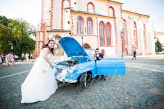 Need to repair? #Wedding #pictures with oldtimer in #Banska #Bystrica, #Slovakia.