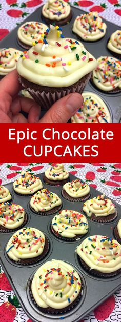 These are the best cupcakes ever! Truly amazing! This is the only chocolate cupcakes recipe I'll ever need!