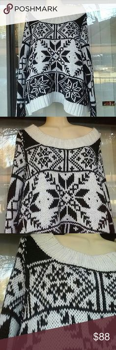 Free people aztec print sweater 70%wool,preown,good condition Free People Sweaters