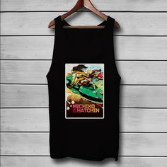 Michiko and Hatchin Flying With Motorcycle Custom Tank Top T-Shirt Men and Woman