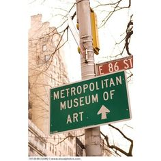 Metropolitan Museum of Art - New York City 5th Avenue street sign 5th... ❤ liked on Polyvore