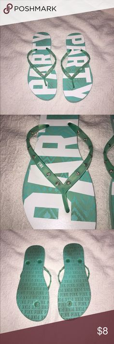 💜 PINK jeweled flip flops Gently used but still in great condition PINK Victoria's Secret Shoes Sandals