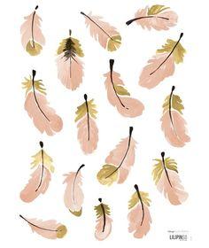 Flamingo Veertjes - Muursticker (S1040)