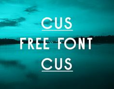 """Check out this @Behance project: """"CUS CUS typeface"""" https://www.behance.net/gallery/24585431/CUS-CUS-typeface"""