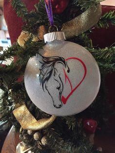Horse Christmas Ornament Gift, Farmhouse on Mercari Horse Christmas Ornament, Christmas Horses, Farmhouse Christmas Ornaments, Painted Christmas Ornaments, Holiday Ornaments, Christmas Crafts, Christmas Bulbs, Christmas Decorations, Christmas Ideas