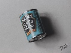 A can of beans - drawing by marcellobarenghi.deviantart.com on @deviantART
