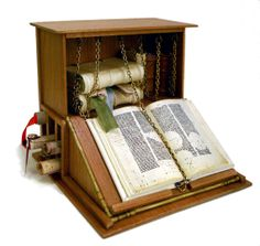 very nice 1:12 scale Miniature Medieval Library Desk