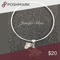 """Swarovski Crystal Silver Bracelet Swarovski Crystal Silver Bracelet Charm bracelet with Swarovski Crystal Quality Crystal Pendant /Swarovski Crystal Bracelet Main Stone: Swarovski Elements Size chart : 8"""" approx. Swarovski Jewelry Bracelets"""