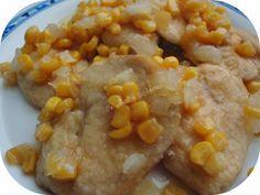 Escalopines de pollo en salsa agridulce