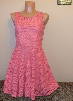 Kup mój przedmiot na #vintedpl http://www.vinted.pl/damska-odziez/krotkie-sukienki/11959420-rozowa-azurkowa-sukienka-xs-s