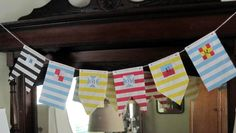 Nautical Summer banner with Bitty Bags and Divine Twine by Jan Ely