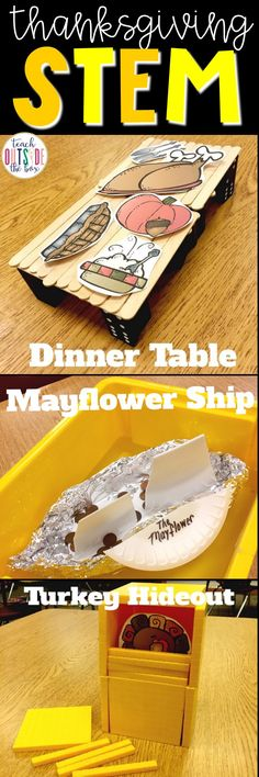 Three low prep Thanksgiving STEM challenges for elementary engineers | STEM Activities | November STEM