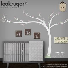 0071-Cherry Blossom arbre Decal  Office / Home Wall par looksugar