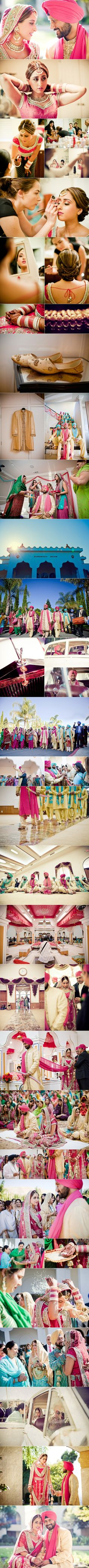 Beautiful Sunny Pink-Blue San Francisco Sikh Wedding