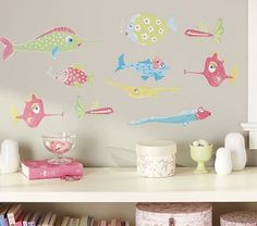 I love the Pink Funny Fish Decals on potterybarnkids.com