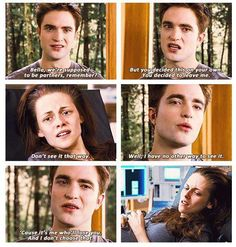 Breaking Dawn part 1 ~ Edward and Bella. I did feel really bad for Edward tho, I mean he waited over 100 years for her and then she's just gonna die