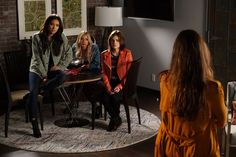 Pin for Later: While You Were Distracted by the Drama on Pretty Little Liars, We Were Looking at the Outfits  A variety of colorful toppers makes for a too-cool group photo.