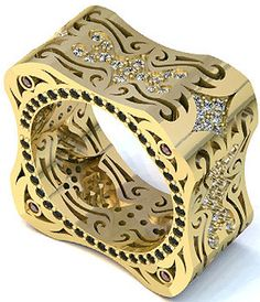 LUZ ONE RING 18K YELLOW GOLD