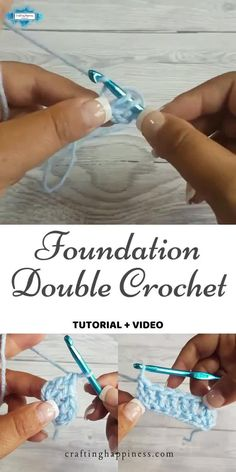 Step up your crochet game & learn the Foundation Double Crochet, a chainless way of starting your project. Step by step photo & video tutorial #crochetblankets #crochetafghans #crochetstitches #crochetpatterns #freecrochetpatterns #crochetforbaby #crochetprojects #crochetbaby #babyblankets #stitchesforblankets Easy Crochet Stitches, Crochet Stitches For Beginners, Crochet Edging Patterns, Crochet Videos, Crochet Basics, Crochet Designs, Crochet Game, Crochet Cord, Double Crochet