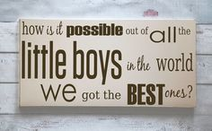 Best Little Boys  Wooden Sign  Typography Word Art  by vinylcrafts, $55.00