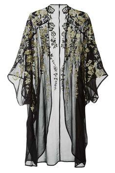 H&M embroidered black robe #lingerie