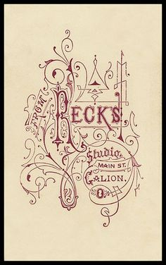 old hand lettering