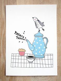 Print - Proud teapot