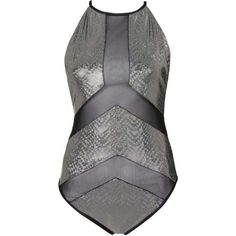 Holographic Mesh Insert Swimsuit by Jaded London (145 RON) ❤ liked on Polyvore featuring swimwear, one-piece swimsuits, tops, black, mesh swimsuit, mesh swimwear, holographic one piece swimsuit and mesh insert swimsuit