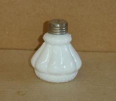 EAPG-WHITE-OPAQUE-LOBULATED-SALT-SHAKER-CIRCA-1900