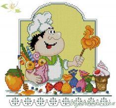 Кладовочка схем - вышивка крестиком Cross Stitch Kitchen, Hello Kitty, Quilts, Knitting, Plastic Canvas, Character, Stitches, Pictures, Image